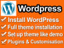 install WordPress for your website