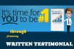 do a STUNNING Testimony In Written Form