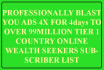 promote your mlm link,solo ads,website to 926,066,501million targeted subscriber