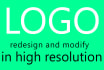 modify or redesign old logo with free Source file