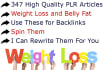 give You 347 High Quality Weight Loss PLR Articles