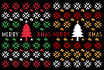 ugly christmas trendy design template