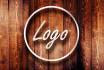 design professional minimalistic logo or stamps