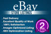 list 10 eBay products or optimize your listings with SEO