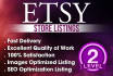 list 10 etsy products or optimize your listings with SEO