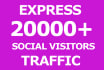 generate 5000 visitors to your website
