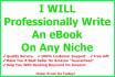 professionally write an EBOOK on any niche