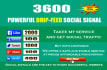 add your site to 3600 SEO social signal, Quality Build
