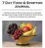 provide a 7 day food and symptom journal