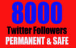 add 8000 Good Quality Twitter Followers