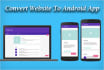 convert Website Into Awesome Looking Android App With Navigation Drawer