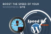speed up your WordPress loading speed Cache, Compress, CDN, Optimize