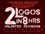 do 2 outstanding logo in 8hrs