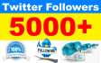 add 5000 Good Quality Twitter Followers