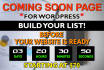 build a coming soon page for your wordpress website