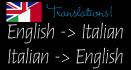 translate Italian to English and vice versa