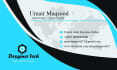 design Outstanding Proffesional business card Within 24hours