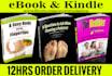 design Unique eBook Cover with gift