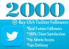 add 2000 Good Quality Twitter Followers