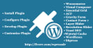 install, configure,customize  develop WordPress plugin