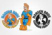 create professional Illustration cartoon logo