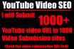 do 1000 Manual Social Bookmarks or Backlinks for YouTube Videos