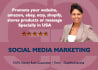 promote your product or website 3m followers on facebook and twitter traffic
