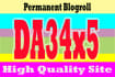 give link DA34x5 site blogroll permanent