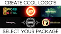 create cool logo for your work