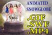 create beautifully animated snow globes