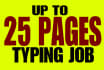 do AMAZING typing 25 pages from pdf, Scan file to msword