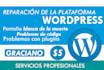 reparar tu problema con wordpress