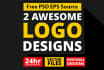 design 2 MAGNIFICENT n attractive logo in 24 hrs