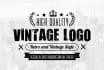 design a Retro Vintage LOGO