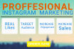 marketing and Manage your INSTAGRAM With Instant Results