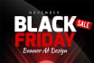 design OUTSTANDING Black Friday Banner ads