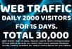provide 30000 USA based website,traffic, visitors to your site
