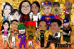 be your caricature artist for logo, print or animation