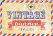 create a vintage retro banner, label or invitation