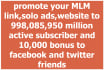 promote your mlm link,solo ads, website