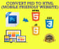 convert PSD to Responsive HTML5 CSS3 Professionally