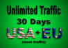 get REAL Unlimited targeted web traffic