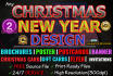 design Christmas and New Year graphic for you professionally