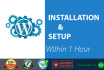 install or setup WordPress within 1 hour