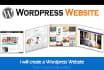 create a Wordpress Website or Wordpress Site Design
