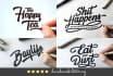 design a handdrawn CURSIVE logo