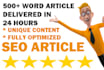 write high quality content SEO article in 24 hours