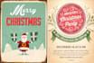 design retro christmas flyer or poster