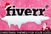 decorate your logo with Christmas theme Santa hat and snow