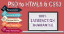 convert psd to web template html5 and css3